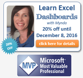 excel dashboard course with mynda treacy