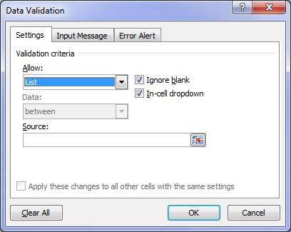 data validation list dialog box
