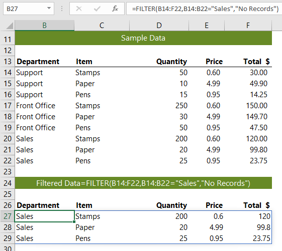 Excel FILTER Function • My Online Training Hub