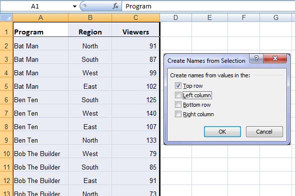 Range In Excel ~ Excel named ranges explained my online training hub