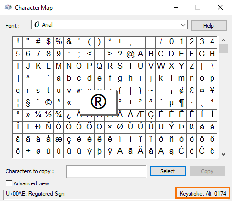 character maps to undefined