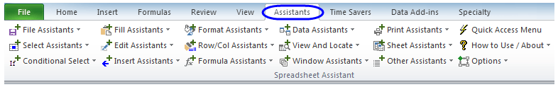 Excel Spreadsheet Assistant addin