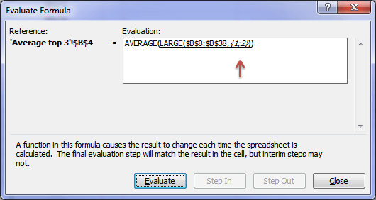 Excel Audit Formula INDIRECT Function