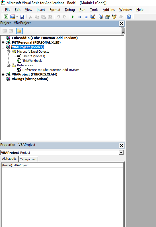 Calling VBA in an Add-In From Other VBA Modules