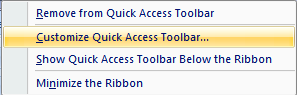 excel camera tool add to quick access toolbar