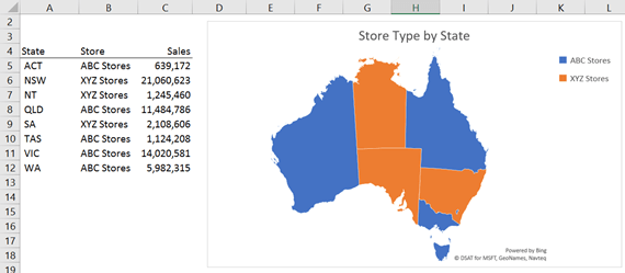 Excel Map Charts • My Online Training Hub