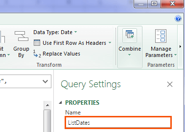 change query name