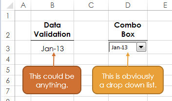 Excel Combo Box