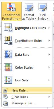 Excel Conditional Formatting formula