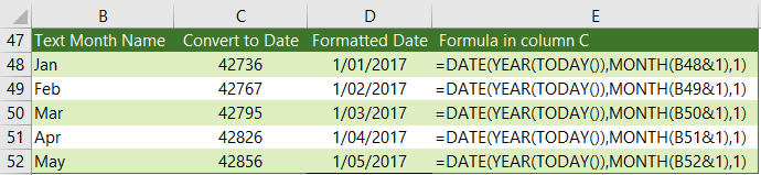 convert abbreviated month name to number