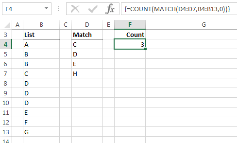 Excel COUNT MATCH Array Formula • My Online Training Hub