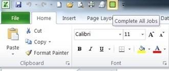 Customized Quick Access Toolbar