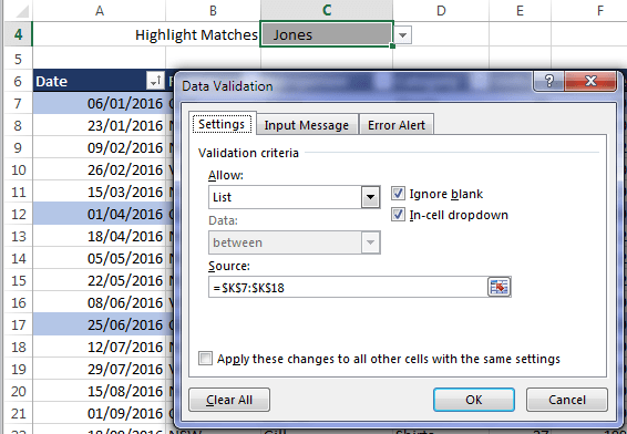 Excel Conditional Formatting to Highlight Matches • My Online