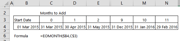 Excel End of Period Dates • My Online Training Hub