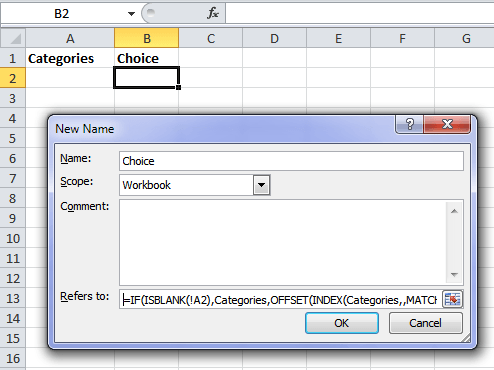 Excel Dynamic Data Validation Lists