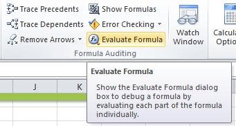 Excel Evaluate Formula Tool