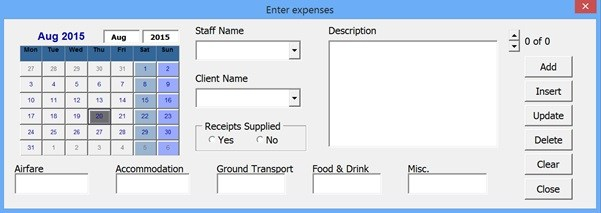 Excel Forms - Insert, Update and Delete