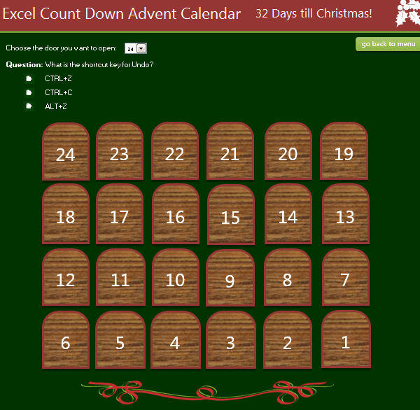 Excel Advent Calendar 2015