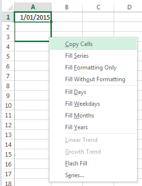 Excel Fill Dates