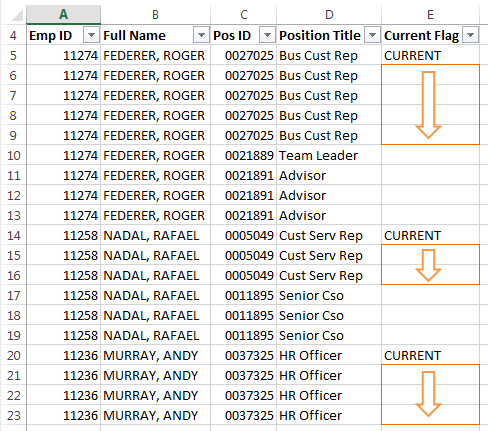 Excel Fill Down blank cells IF