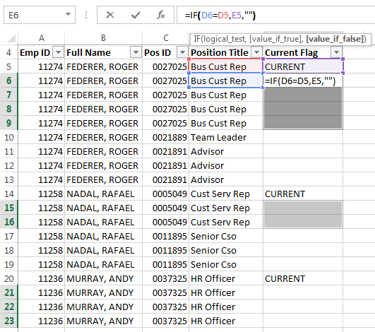 Excel Fill Down blank cells IF formula