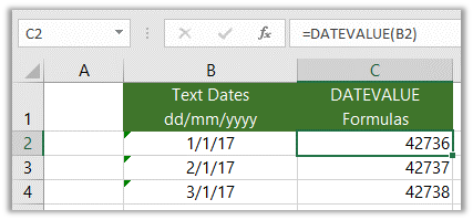 datevalue fix excel dates formatted as text