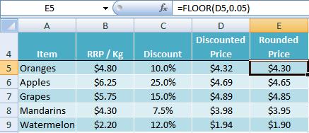 Great Excel FLOOR Function Example