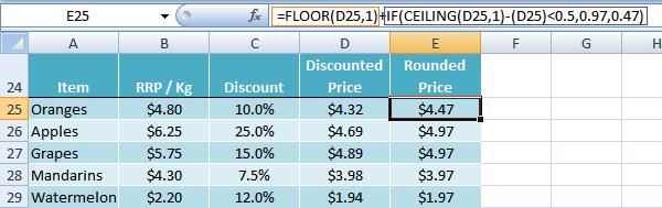 Elegant Excel FLOOR Function Trick