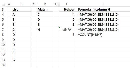 helper column to check values