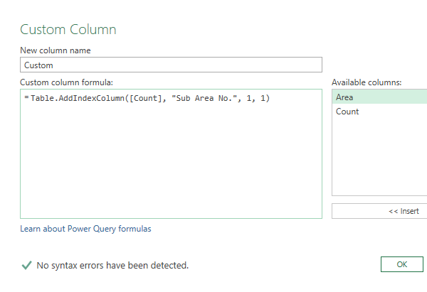 Power Query Insert Custom Row