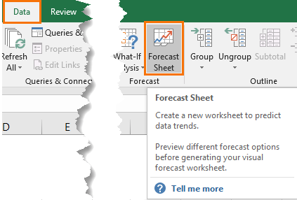 Excel Forecast Sheet • My Online Training Hub