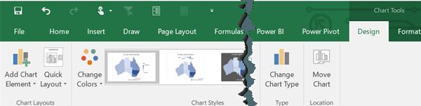 formatting map chart