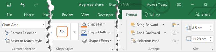 map charts format tab