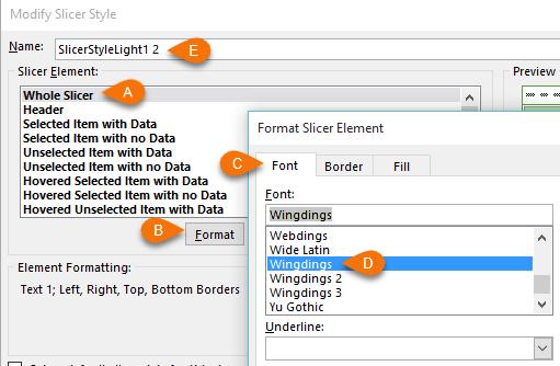 modify slicer style