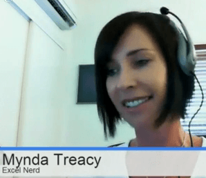 Mynda Excel TV interview