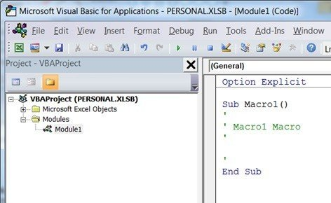 Personal Macro Workbook - Create Your PERSONAL XLSB