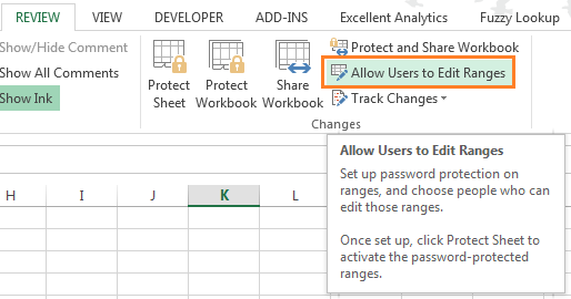 Allow users to edit ranges