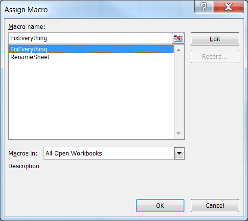 Assign a Macro to a Shape or Use a Shortcut Sequence