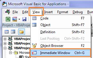 open vb editor
