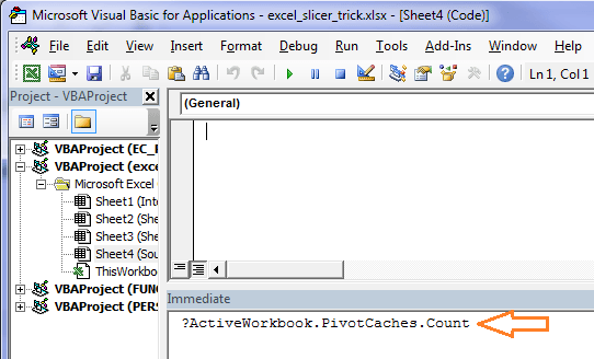 VBA to count Excel Pivot Caches