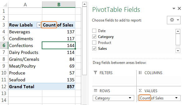 Excel Pivottable Default To Sum Instead Of Count