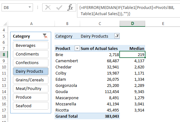 Calculating MEDIAN in PivotTables • My Online Training Hub