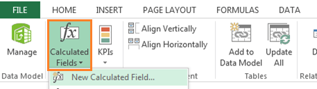 insert calculated field power pivot excel 2013