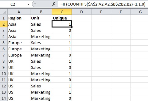 Excel PivotTable Distinct Count