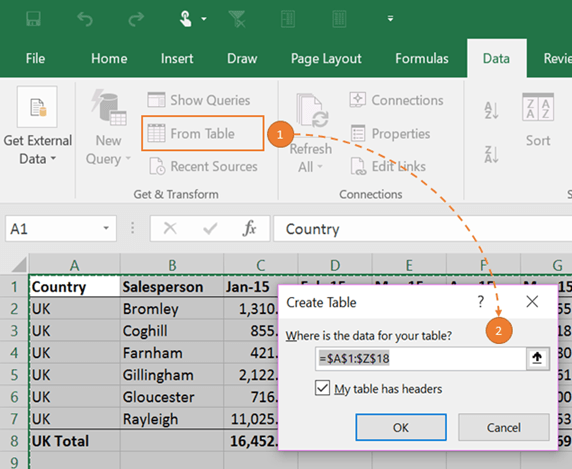 Excel 2016: On the Power Query tab
