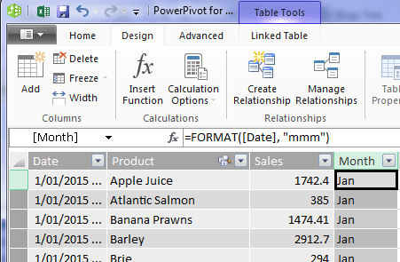 rename power pivot column