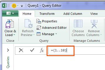 open Query Editor