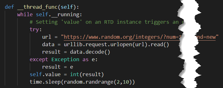 real time python code for random number generator