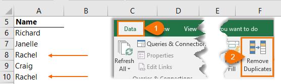 remove duplicates to get unique list