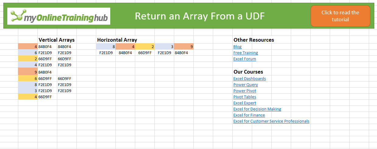 Return an array from a udf my online training hub ibookread Download